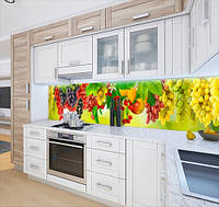 Панель кухонні, замінник скла виноградні грона, на двосторонньому скотчі 68 х 305 см