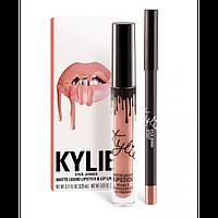 Набор для губ KYLIE LIPSTICK & LIP LINER матовая помада и карандаш APRICOT