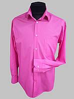 Мужская рубашка малиновая с длинным рукавом, фото 1