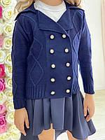 Пиджак вязанный на пуговицах ромб, фото 1