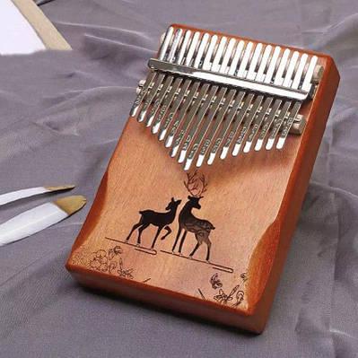Музыкальный инструмент Калимба 17 key Kalimba Brown 2 Deer