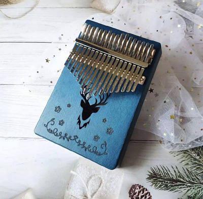 Музыкальный инструмент Калимба 17 key Kalimba Blue Deer