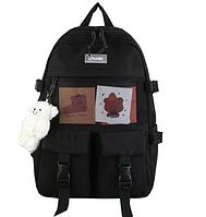 Рюкзак школьный для девочки. Школьный подростковый рюкзак для девочки с мишкой, разные цвета