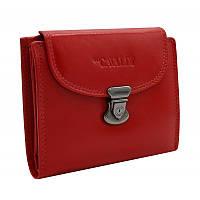 Жіночий шкіряний гаманець маленький червоний RD-19 GCL red