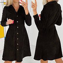 Вельветове сукню на гудзиках повсякденне, фото 2