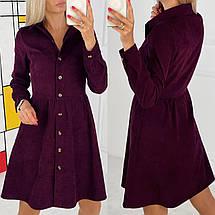 Вельветове сукню на гудзиках повсякденне, фото 3