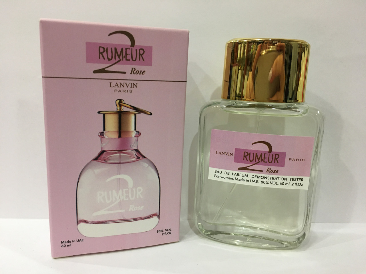 Женские духи мини тестер Lanvin Rumeur 2 Rose DutyFree 60 мл (Ланвин Румер 2 Роуз)