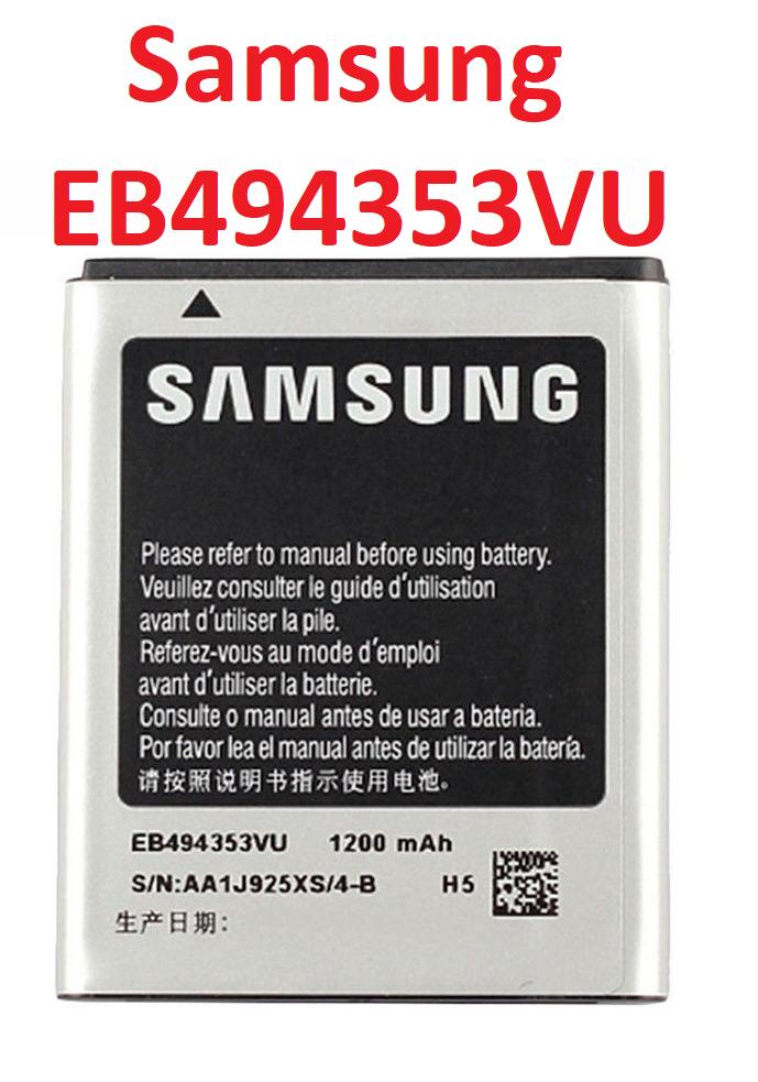 Акумулятор EB494353VU для Samsung C6712, i5510, S5250, S5253, S5280, S5282, S5330, S5333, S5570, S5750, S5780