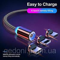 Магнитный кабель USB METAL 3 в 1