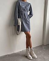 Женское шёлковое платье, серое