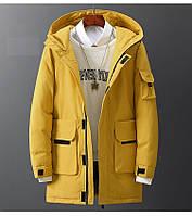 Чоловіча зимова куртка парку пуховик, дуже тепла, синя. РОЗМІРИ 44-52, фото 1