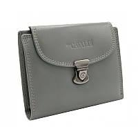 Жіночий шкіряний гаманець маленький сірий Cavaldi RD-19 GCL gray