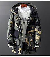 Мужская зимняя куртка парка пуховик, очень тёплая, синяя. РАЗМЕРЫ 44-52, фото 1