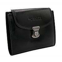 Жіночий шкіряний гаманець маленький чорний Cavaldi RD-19 GCL black
