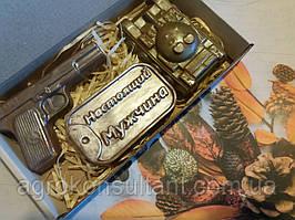 """Шоколадный набор """"Настоящему мужчине """" 140 грамм в упаковке"""