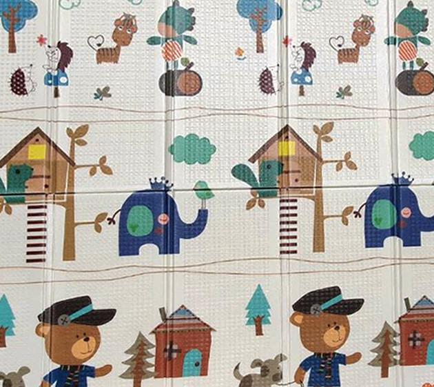 Детский складной игровой коврик 2-х сторонний EVA CARRELLO 200 XPE (180*1*200 см) Дорога | Бебипол
