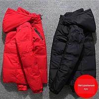 Мужской зимний спортивный пуховик куртка, чёрный / РАЗМЕР 44-52, фото 1