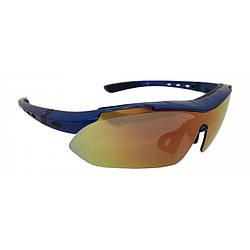 Окуляри велосипедні спортивні Calibri Blue FSC-QG701B Сині