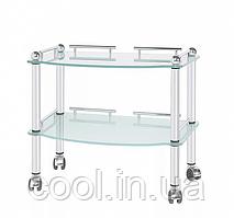 Косметологічний стіл-візок ST-2, скляний Plastek-Technic