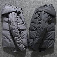 Мужской зимний спортивный пуховик куртка, серый/графит, РАЗМЕР 44-52, фото 1