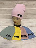 Стильные шапки для девочек 54-55 см, Опт
