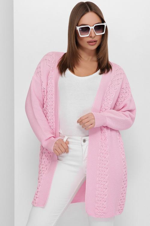 Кардиган 185 розовый 44-50
