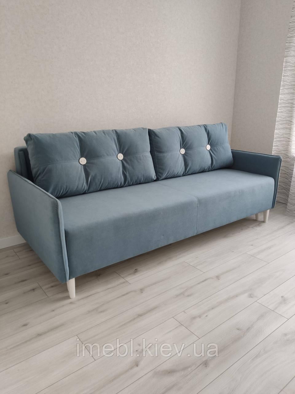Кухонный диван со спальным местом (Голубой)