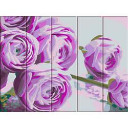 Картина по номерам на дереве Сиреневые цветы, 30x40 см., Art Story