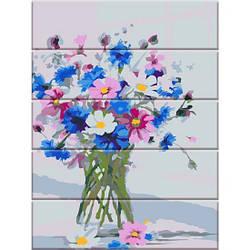 Картина по номерам на дереве Цветы из сада, 30x40 см., Art Story
