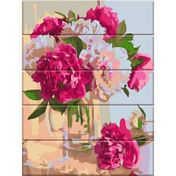 Картина по номерам на дереве Аромат пионов, 30x40 см., Art Story