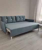 Кухонний диван за типом євро книжка (Блакитний), фото 1