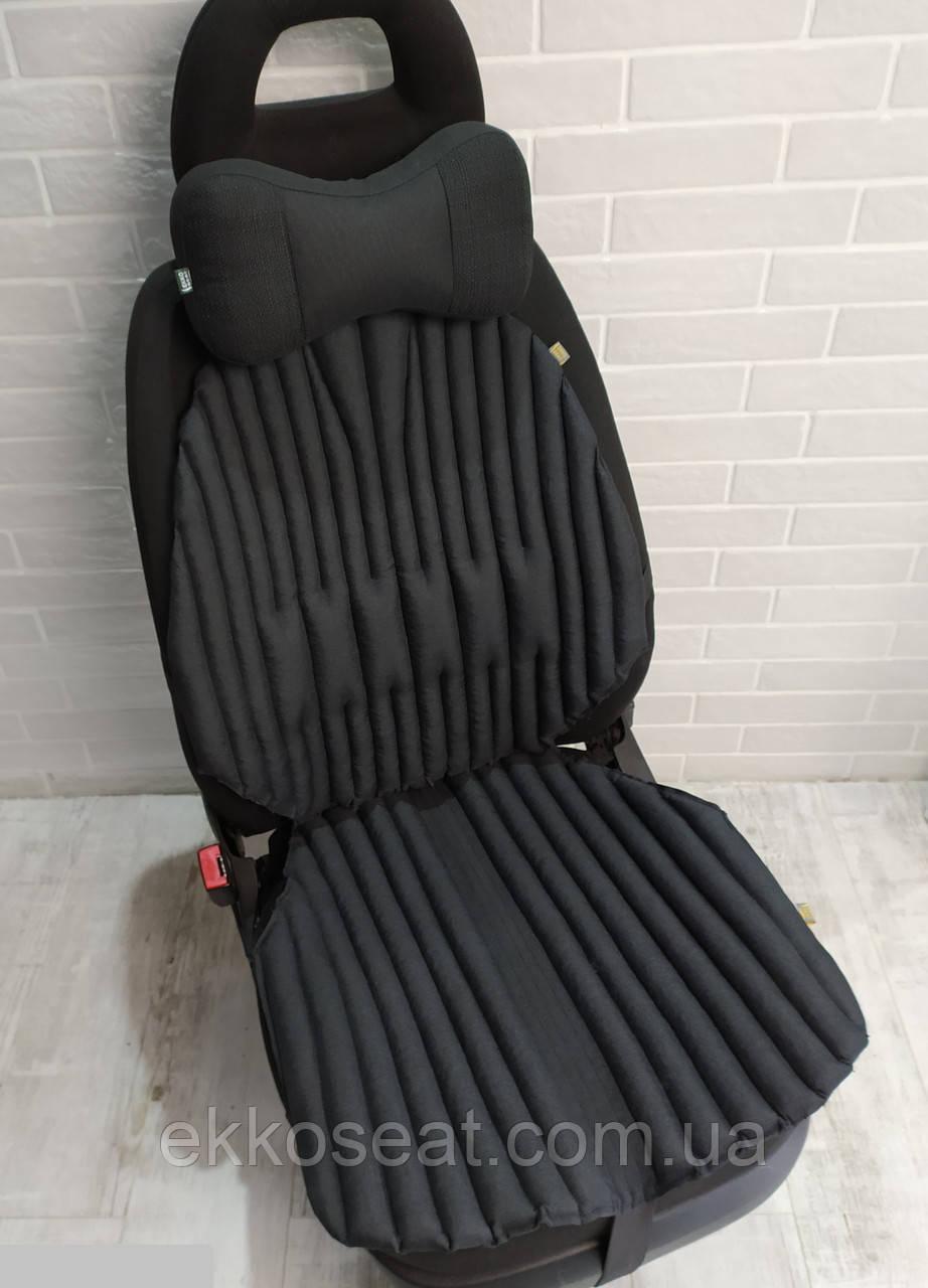 Подушки на сидения авто, ортопедические, EKKOSEAT. Комплект. Универсальные. Черные, серые, бежевые.