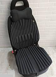 Подушки на сидіння авто, ортопедичні, EKKOSEAT. Комплект. Універсальні. Чорні, сірі, бежеві.