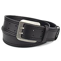 Ремень мужской широкий кожаный черный 5 см KB-50-02 (135 см)