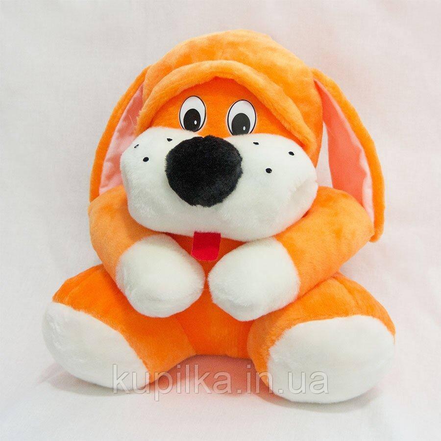 Мягкая игрушка Zolushka Собака Пегус 36см оранжевая (ZL1633)