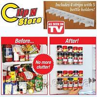 Держатель кухонный органайзер для шкафов и холодильников Clip n Store, фото 2