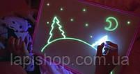 Рисуй светом Формат А4 Детский интерактивный набор для рисования в темноте, фото 2