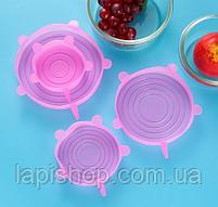 Силіконові кришки для посуду 6 розмірів, фото 6