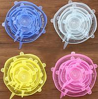Силіконові кришки для посуду 6 розмірів, фото 7