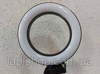 Кольцевая лампа 16 см Светодиодная лампа для селфи LED, фото 2