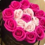 Подарочный набор мыла из роз в шляпной коробке розовый, фото 2