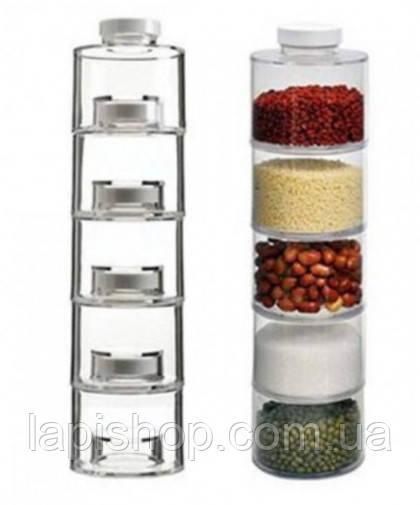 Набір для спецій Spice Tower 6 шт
