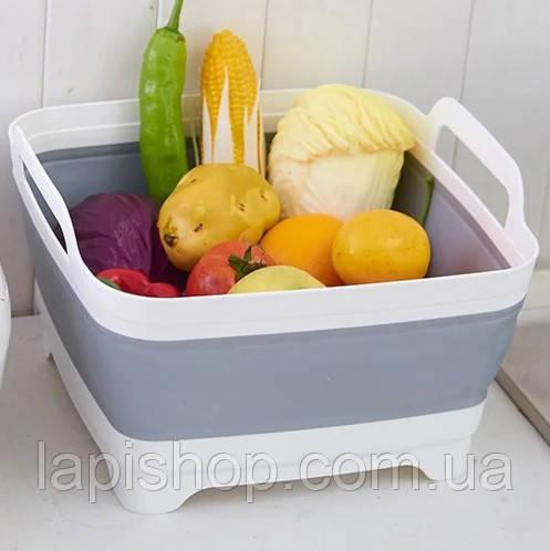 Кошик складний для овочів і фруктів портативна раковина зі зливом
