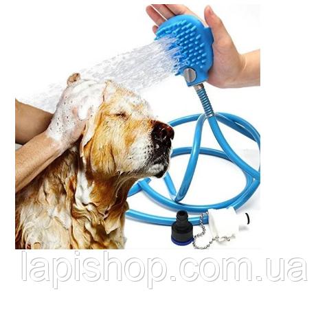 Рукавиця для миття тварин ЩІТКА-ДУШ ДЛЯ СОБАК Aquapaw