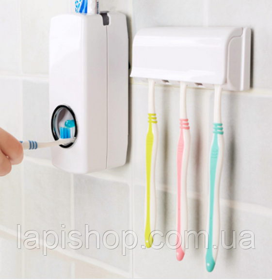 Тримач з дозатором для зубних щіток