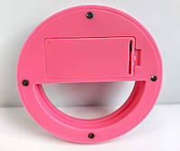 Селфи кольцо светодиоидное кольцо для телефона розовое, фото 5
