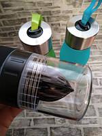 Бутылка для воды и напитков H2O Water Bottle с соковыжималкой 650 мл, фото 4