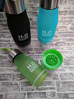 Бутылка для воды и напитков H2O Water Bottle с соковыжималкой 650 мл, фото 5