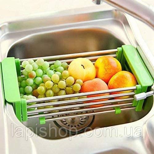 Складна багатофункціональна кухонні сушарка Kitchen Drain Shelf Rack