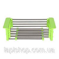 Складна багатофункціональна кухонні сушарка Kitchen Drain Shelf Rack, фото 7